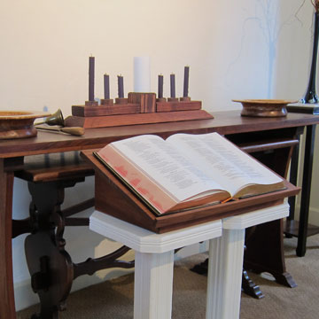 Photo of Chancel Bible in the Old Scotch Church Sanctuary